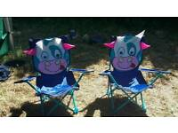Two children's camping chairs