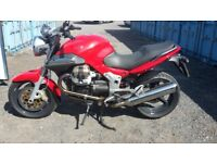 2006 Moto Guzzi 1100 Breva with less than 2200 miles from new