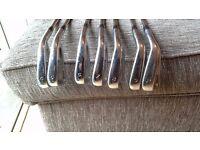 Taylormade golf set, RAC TP irons, Aeroburner driver + 3 wood, Taylormade putter, bag, towel etc