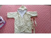 Linvosges Paris bath robe or dressing gown size 24months