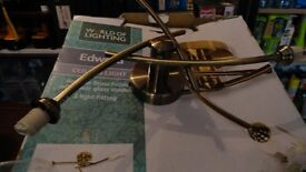Ceiling lights in antique brass finish. (unused and boxed)