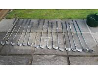 16 GOLF CLUBS ONLY £15 THE LOT