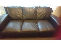 Two 3 seater leather sofa, in very good condition, soft leather. From a pet and smoke free home