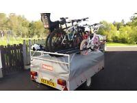 Trigano Trailer tent with 6 bike rack