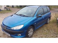 peugout 206, 55 plate estate ideal for parts, no engine or box, excellent body interior