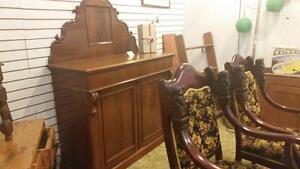 Antique ONTARIO Sideboard Burled  WALNUT SALE 399.99 Beautyreg 495