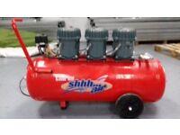 Compressor - Clarke Shhh Air 150/100 Compressor = as New in A1 1st Class Condition - Brixham Devon.