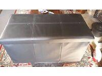 Ottoman leather look storage unit £5