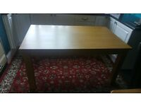 Solid Wood Table 1500 long by 900 wide
