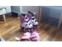 Girl's Roller Boots. Size 13 to 3