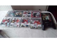 9 ps3 games plus controller