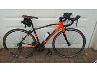 Calibre Rivelin Road Bike Size 54 excellent condition with Turbo Trainer & Extras