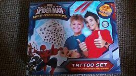 Ultimate Spiderman Web-Warriors Tattoo Set