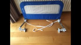 Two child's bed rails in blue. Mothercare make. Summer make.