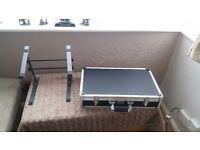 DJ mixer flight case and mixer laptop stand