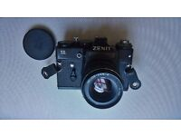11 ZENIT 35 mm film camera with 50 mm lens.