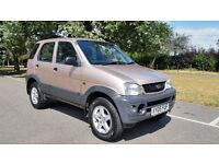 DAIHATSU TERIOS TRACKER 1298cc 05 PLATE 2005 ONE LADY OWNER 86000 MILES SERVICE BOOK VOSA HISTORY