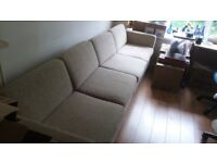 two sofa two seater units. 72 x 34 x 26ins. very comfortable. collect only