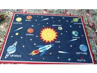 Bargain Clearance Reduced Sale Children Kids Educational Name That Planet Rug Smoke & Pet FREE Home