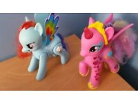 My little pony talking/light up ponys in superb condition