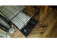 Dog cage & mattress