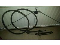 2No. Vittoria Rubino Black/Honey 700x23c (Wired) With 2No. Innertubes