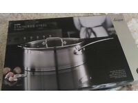 Saute pan with lid stainless steel 28cm brand new 25 year guarantee