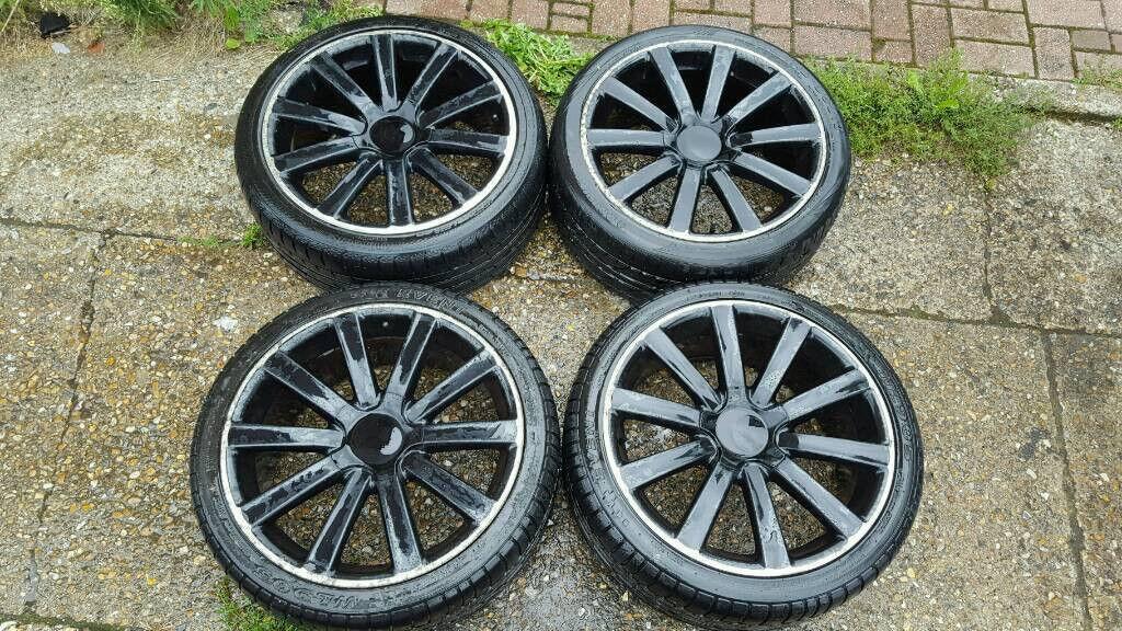 5x112 VW golf R32 MK5 Style Gloss black alloy wheels A3 A4 Caddy Leon MK2 fds