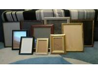 15 different size picture frames