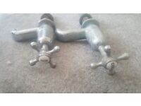 old taps brass £30 ono