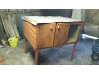 Large Wooden Rabbit Hutch