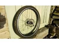Mountain bike 26 inch wheel, tyre and disc
