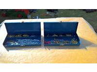 Two Metal Containers +Assortment of Screws