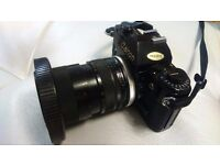 Canon A1 SLR body + Tamron 35-80mm, 2.8-32 aperture lens - camera for sale