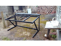 mixing desk stand with rack slots (12u)