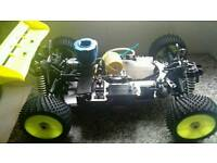 RC Nitro custom built car Awesome! For swap