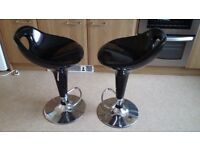 Gas lift bar stool for kitchen or breakfast bar (pair)