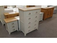 Julian Bowen Richmond Elephant Grey 4 + 2 Drawer Chest Can Deliver