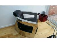 Contemporary Steel & Leather Chairs