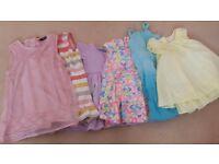 Girls beautiful summer dressses bundle 6-12 months
