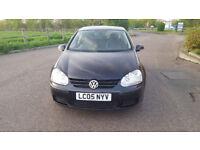 2005 Volkswagen Golf 1.6 black 5dr hatchback Manual Petrol MOT June2018 full service history 1 owner
