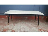 Mid Century Grey Coffee Table With Dansette Legs