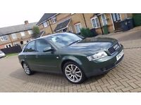 2003 (52) AUDI A4 2.4 V6 PETROL MANUAL 4DR SALOON MOT SEP 2017 HPI CLEAR SUPERB DRIVE ONLY 2 OWNERS