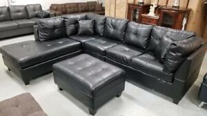 BRAND NEW GEL LEATHER ZENATE SECTIONAL SOFA WITH OTTOMON AT WHOLESALE PRICE(OPTION TO PAY ON DELIVERY)