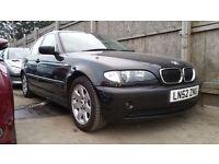 2002 | BMW 320i SE | AUTO | BLACK | SENSORS | 6 CD CHANGER | CRUISE | SERVICE HISTORY | 1 YEAR MOT