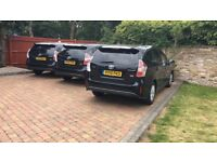 Uber Ready- Toyota Prius Plus 2015 New Shape Hybrid Cars Available for PCO Rent Hire BUY