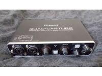 Roland Quad-Capture USB 2.0 - 4 in/4 out 24bit 96Khz External Sound Card