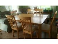 Lovely table with six chairs