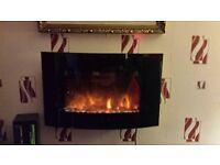 ELECTRIC FIRE!! EXCELLENT CONDITION!! REMOTE CONTROLLED WALL MOUNTED FIRE BARGAIN!!