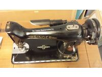 Vintage Singer Sewing Machine in full working order in fold out table